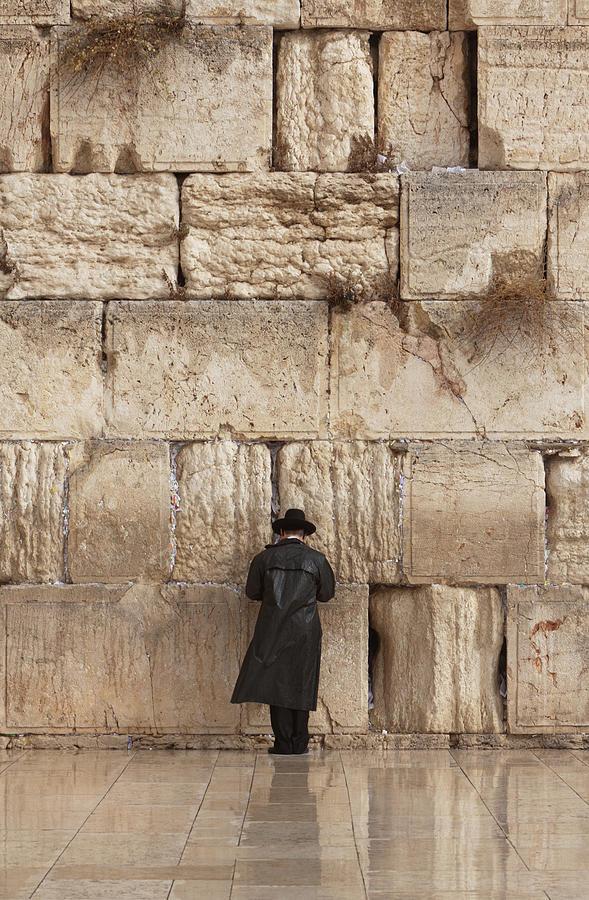 Jewish Man Praying On The Wailing Wall Photograph by Richmatts
