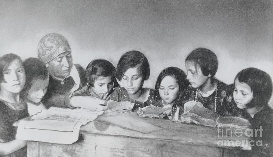 Jewish Teacher With Her Girl Students Photograph by Bettmann