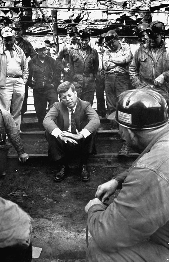 Jfk Campaigns Photograph by Hank Walker