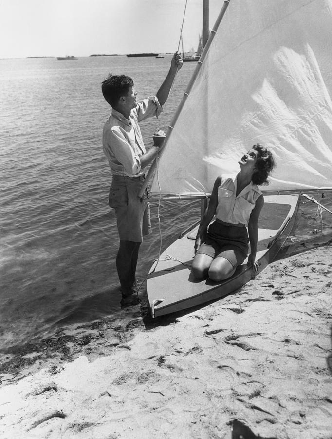 Jfk Sailing Photograph by Hulton Archive
