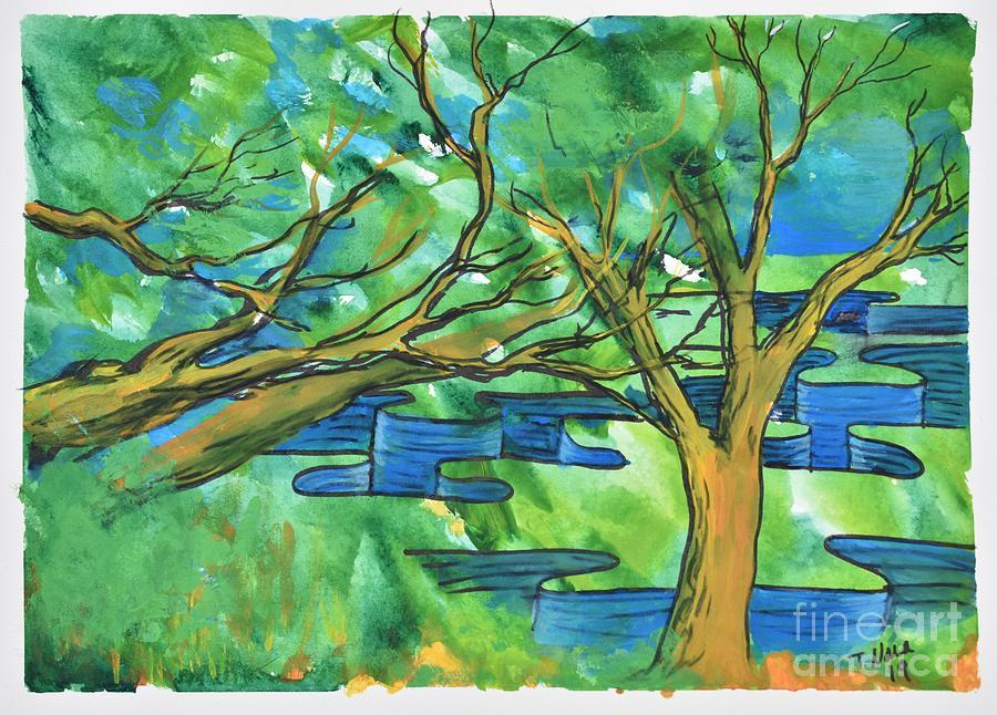 Trees Painting - Jigsaw Canyon by Tammy Nara