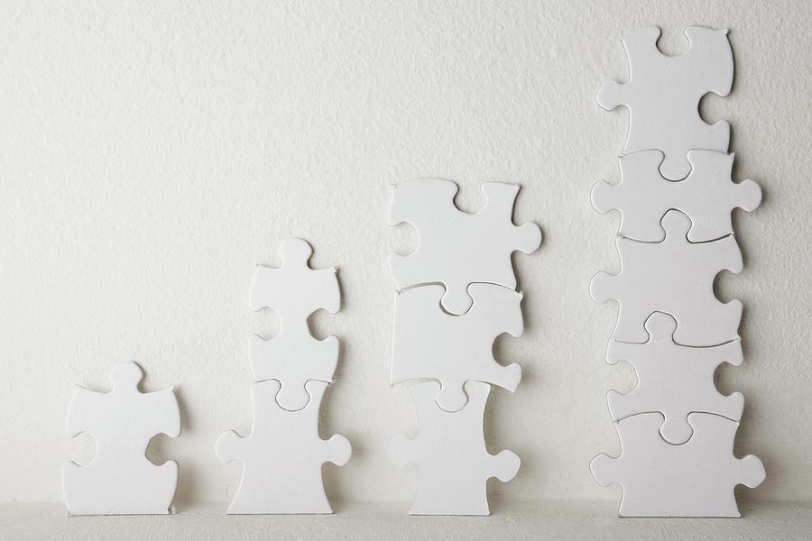 Jigsaw Chart Photograph by Alex Bramwell