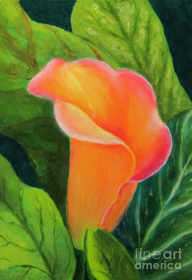 Portable Battery Chargers Painting - Jills Cala Lily by Elizabeth Oertel