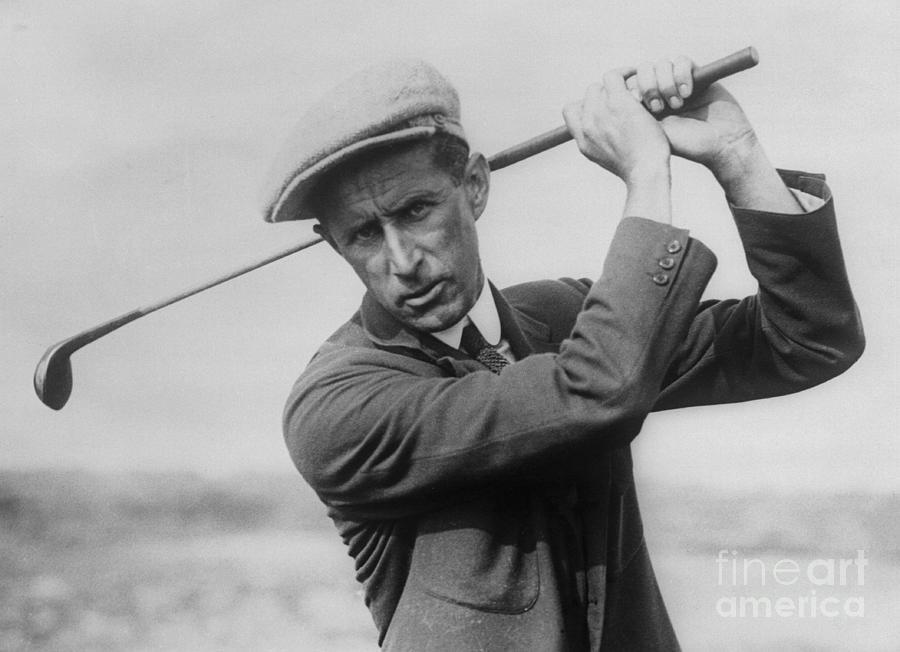 Jim Barnes Holding A Golf Club Photograph by Bettmann