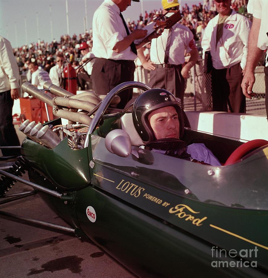 Jim Clark In His Ford Lotus Photograph by Bettmann