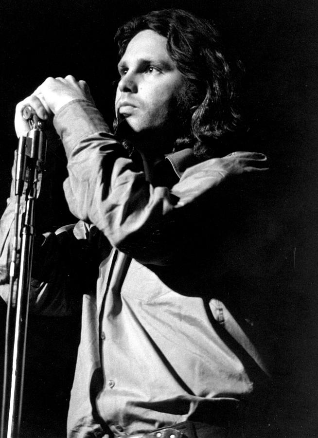 Performance Photograph - Jim Morrison by Tom Copi