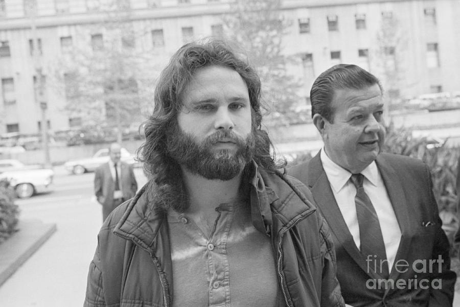 Jim Morrison Walking To Extradition Photograph by Bettmann