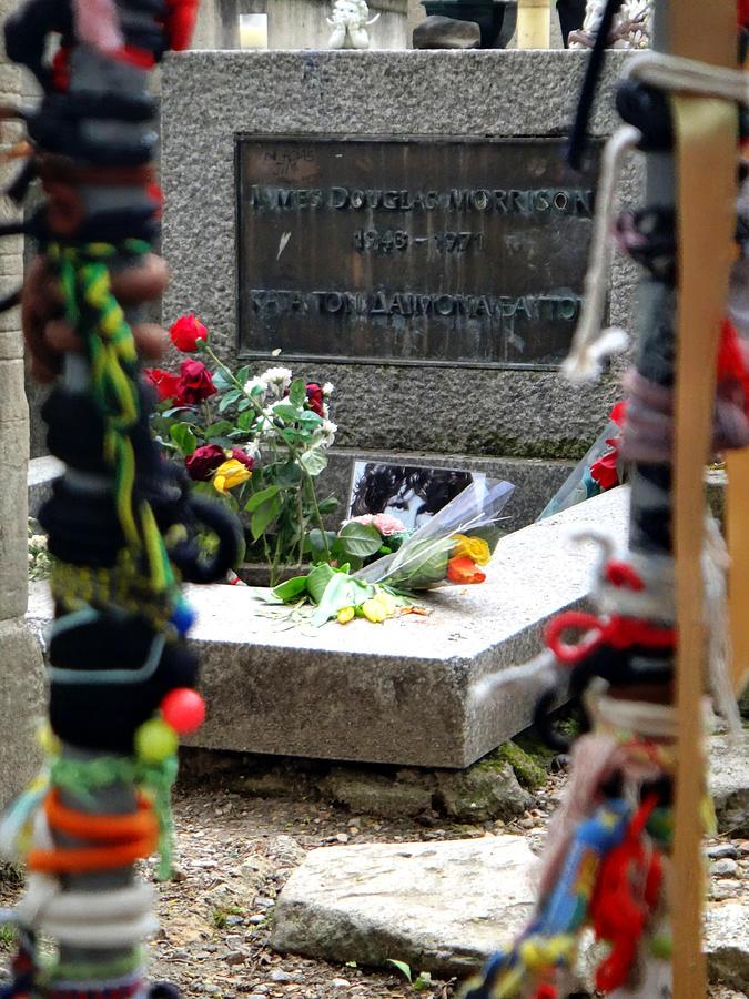 Jim Morrison Photograph - Jim Morrisons Grave in Paris by Two Small Potatoes