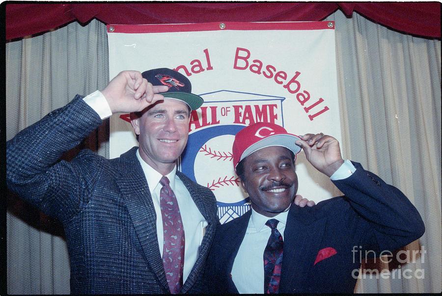 Jim Palmer & Joe Morgan Tip Their Caps Photograph by Bettmann