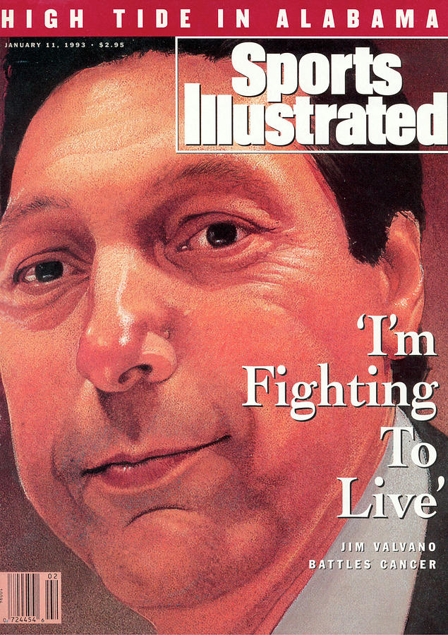 Jim Valvano Battles Cancer Sports Illustrated Cover Photograph by Sports Illustrated