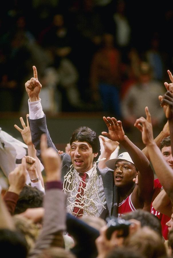 Jim Valvano Nc St Photograph by Getty Images