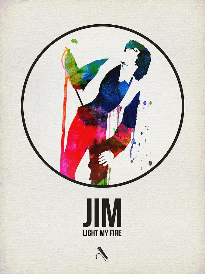 Jim Morrison Digital Art - Jim Watercolor Poster by Naxart Studio