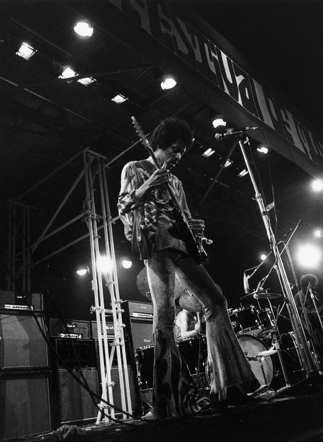 Jimi At Festival Photograph by Evening Standard