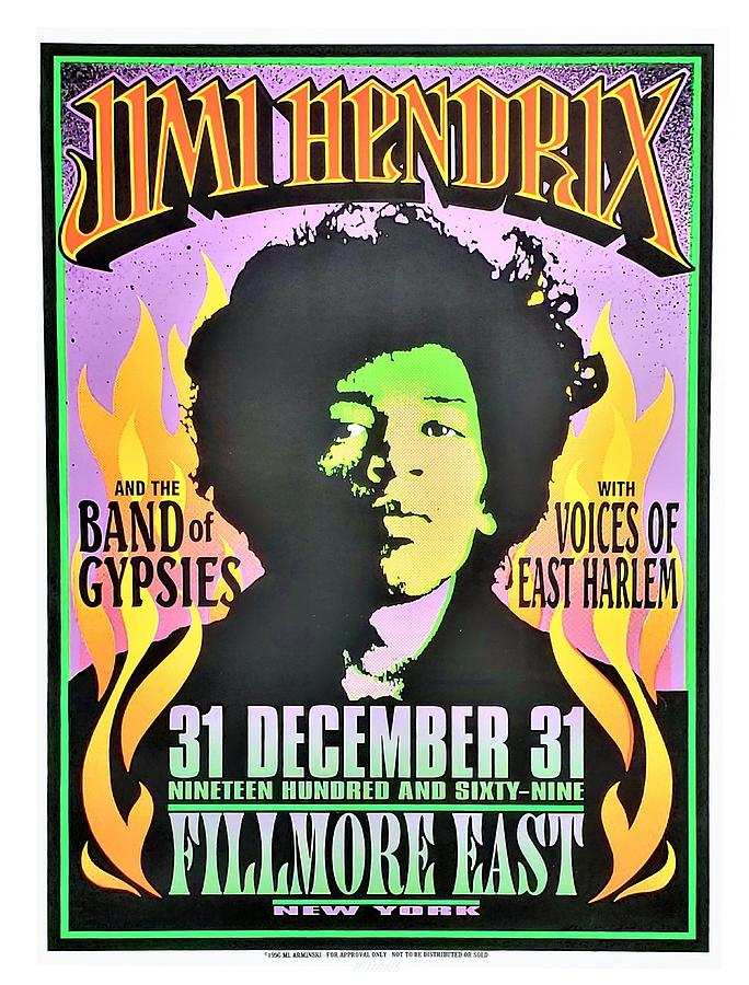 JIMI HENDRIX AT THE FILLMORE EAST by Rob Hans