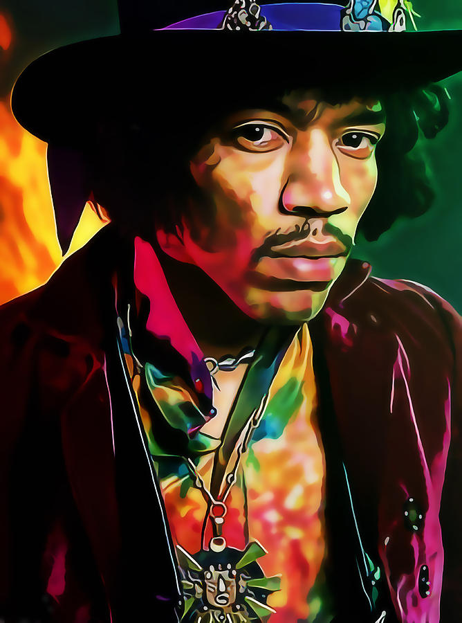 Guitarist Mixed Media - Jimi Hendrix Experience by Marvin Blaine