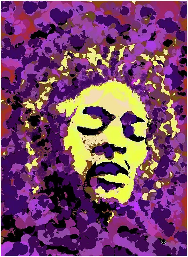 Jimi Hendrix in Purple Haze by Digital Painting