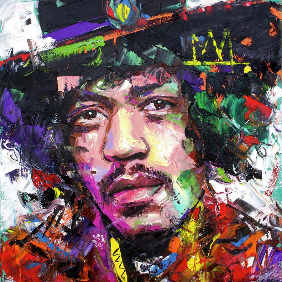 Jimi Painting - Jimi Hendrix IV by Richard Day