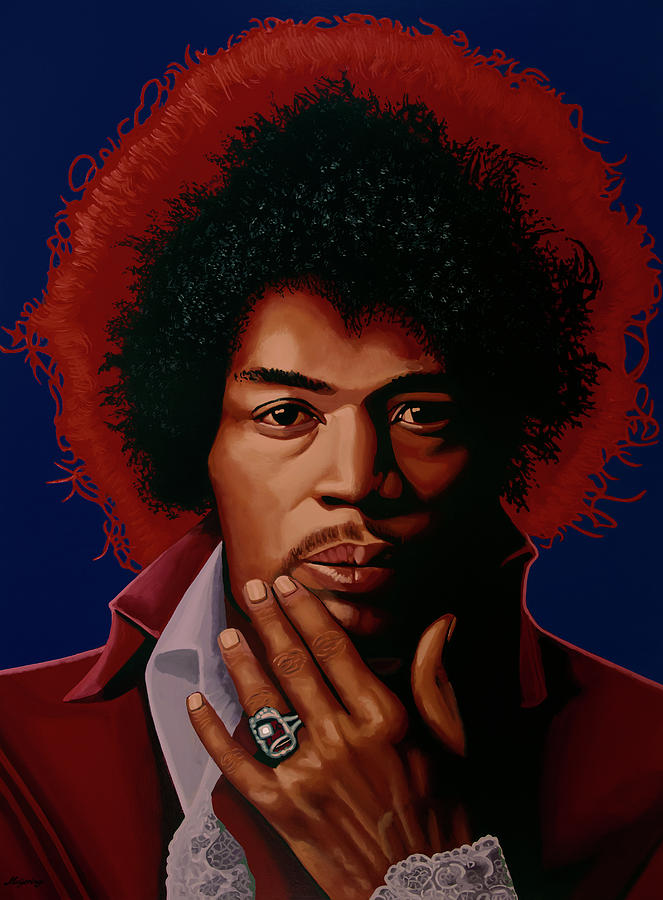Jimi Hendrix Painting 5 by Paul Meijering