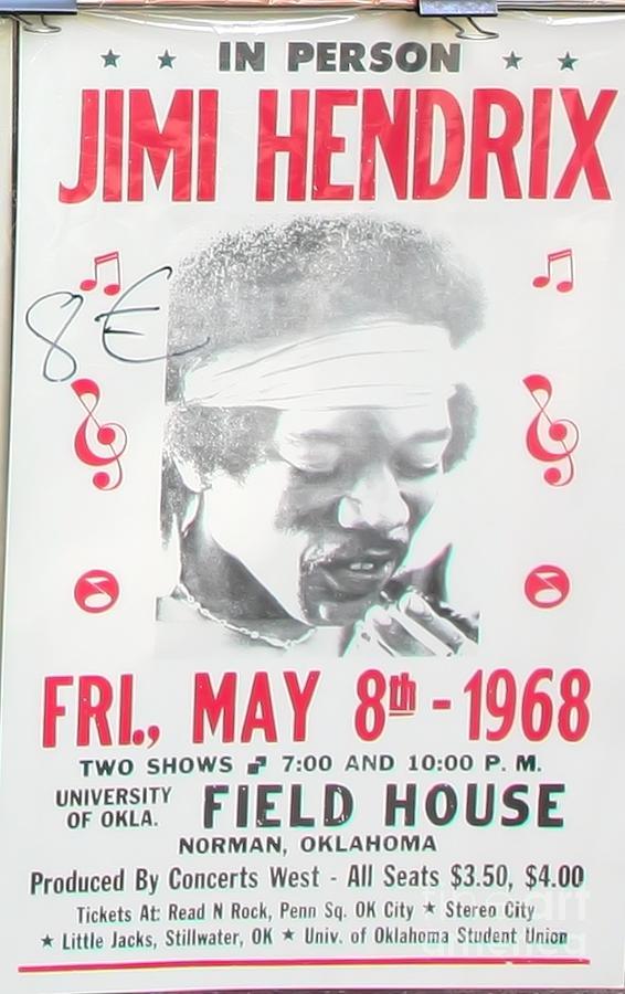 Rock N Roll Photograph - Jimi Hendrix Poster 1968 by Chuck Kuhn