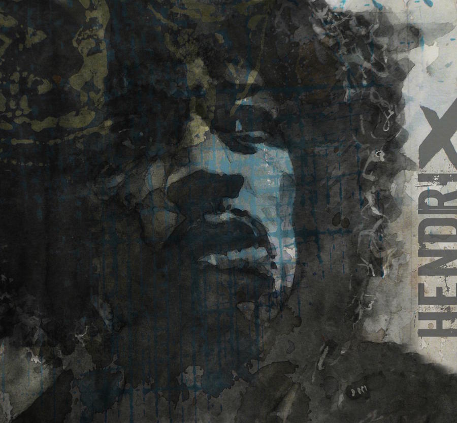 Jimi Hendrix - Retro Series by Paul Lovering