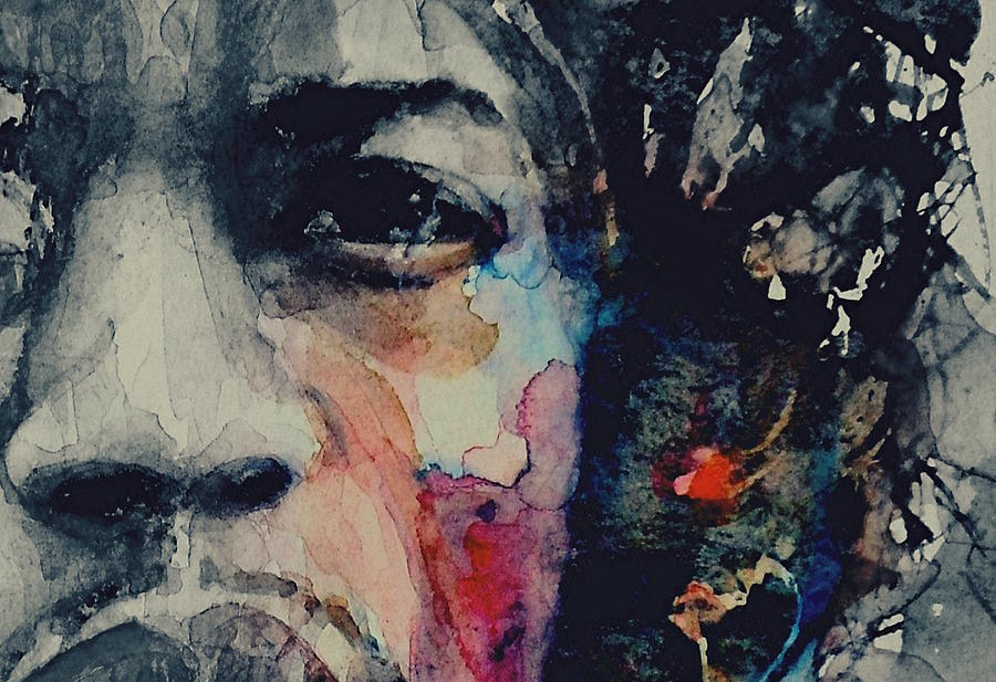 Jimi Hendrix Painting - Jimi Hendrix - Somewhere A Queen Is Weeping Somewhere A King Has No Wife  by Paul Lovering