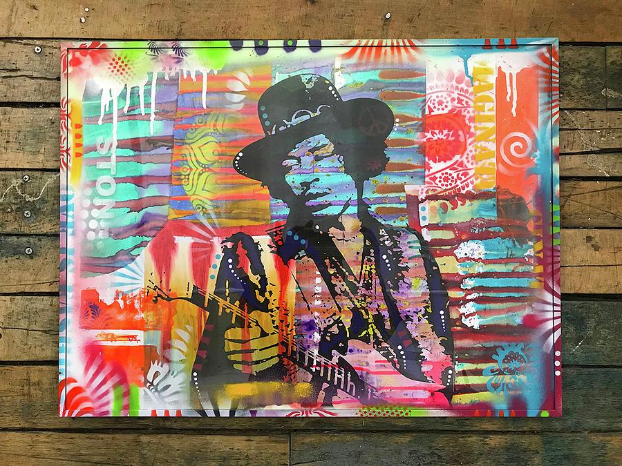 Jimi Hendrix STONE by Dean Russo Art