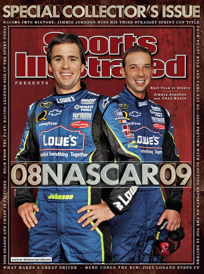 Jimmie Johnson, 2008 Sprint Cup Champion Sports Illustrated Cover Photograph by Sports Illustrated