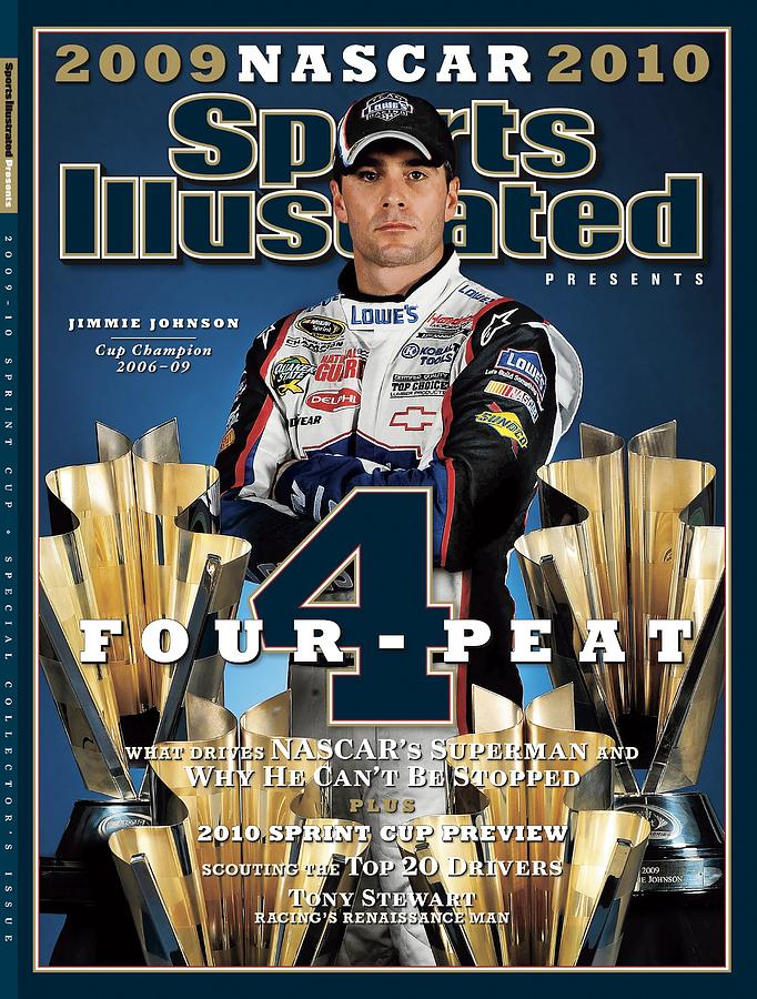 Jimmie Johnson, 2009 Sprint Cup Champion Sports Illustrated Cover Photograph by Sports Illustrated