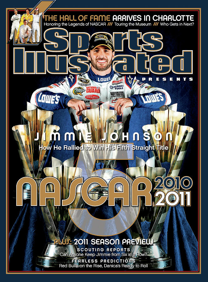 Jimmie Johnson, 2010 Sprint Cup Champion Sports Illustrated Cover Photograph by Sports Illustrated