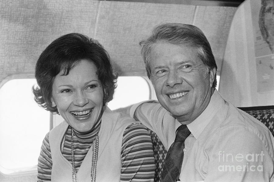 Jimmy Carter And His Wife Rosalynn Photograph by Bettmann