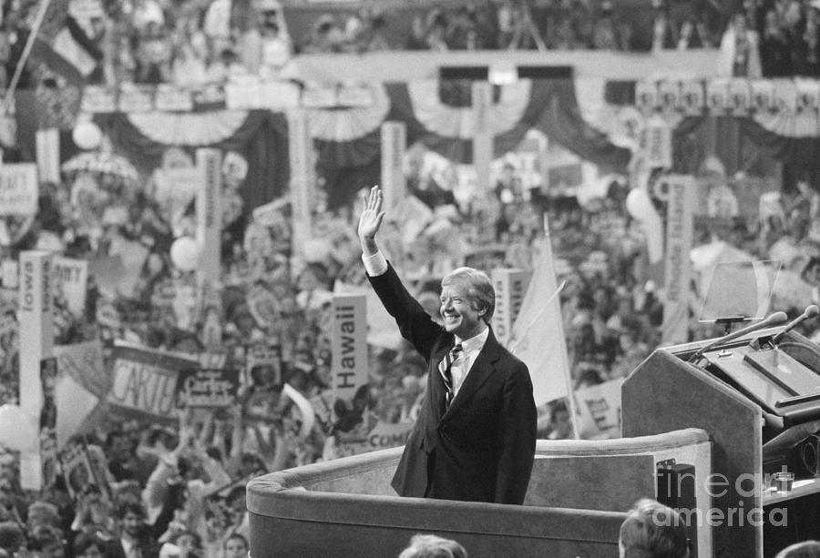 Jimmy Carter At Democratic National Photograph by Bettmann