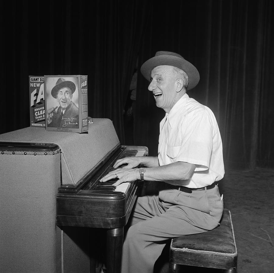 Jimmy Durante On Tv Photograph by Michael Ochs Archives