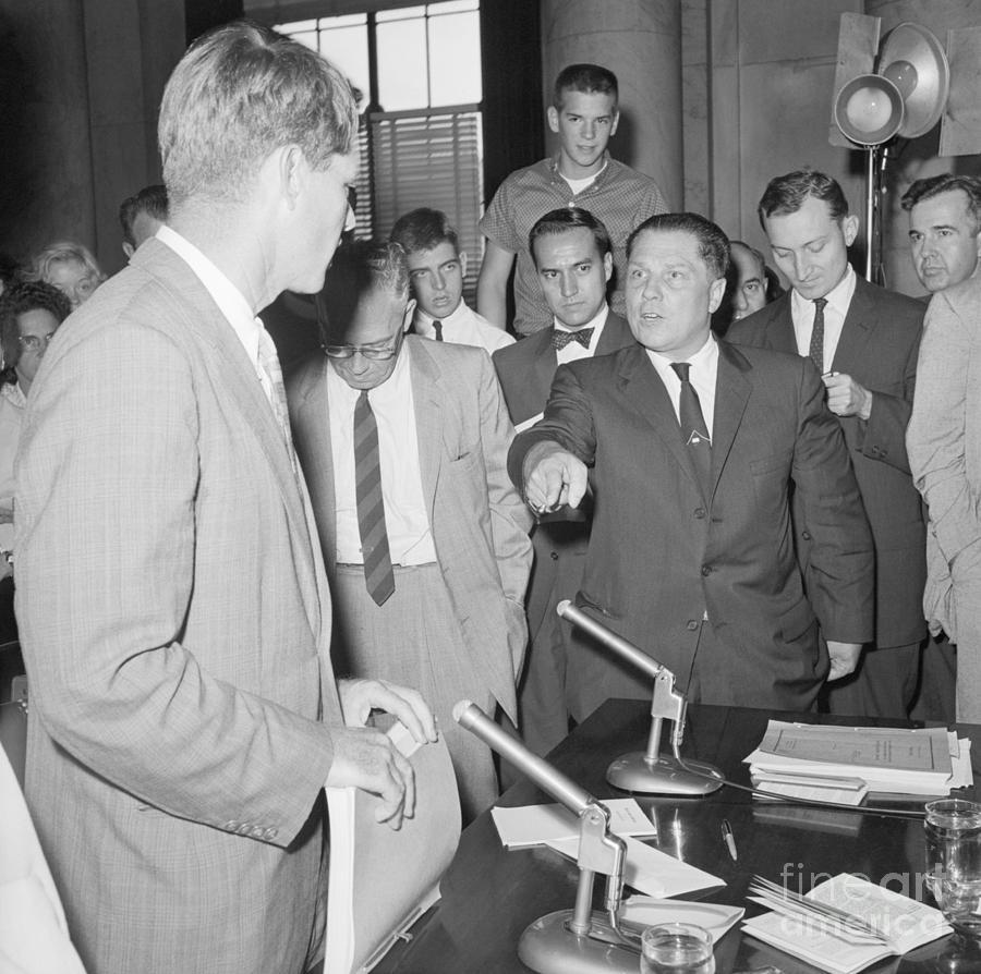 Jimmy Hoffa Meeting With Robert Kennedy Photograph by Bettmann