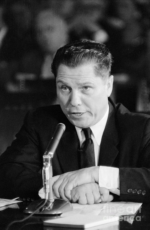 Jimmy Hoffa Testifying At Senate Hearing Photograph by Bettmann