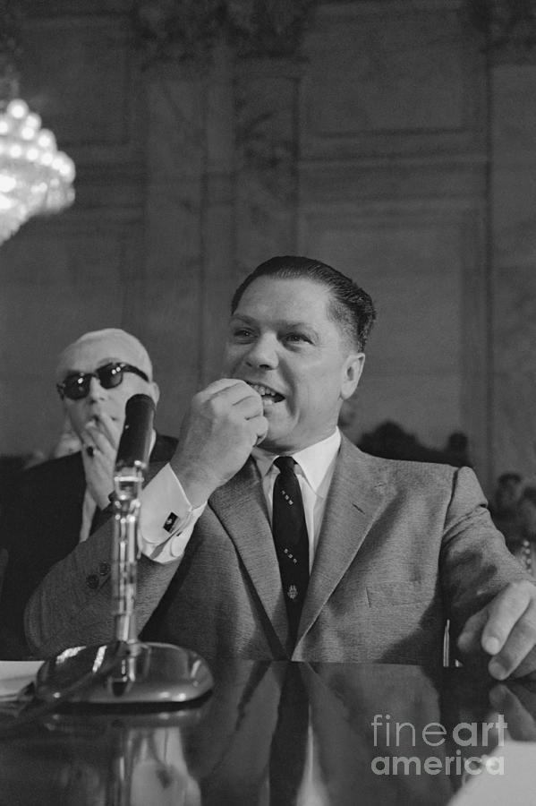 Jimmy Hoffa Testifying Before Senate Photograph by Bettmann