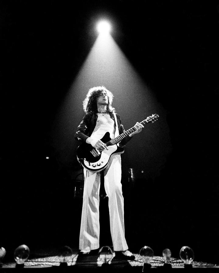 Jimmy Page Live Photograph by Larry Hulst