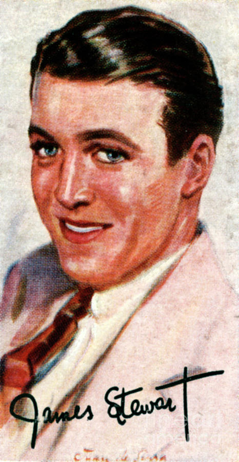 Jimmy Stewart, 1908-1997, Academy Award Drawing by Print Collector