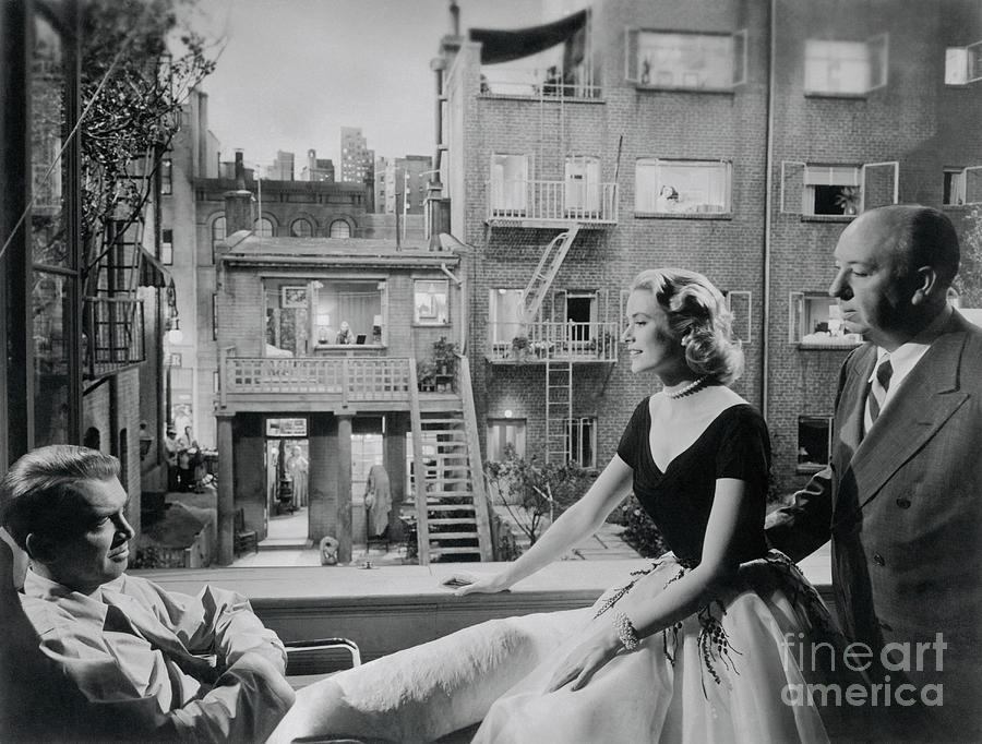 Jimmy Stewart, Grace Kelly, And Alfred Photograph by Bettmann