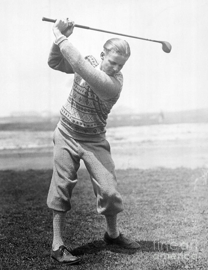 Jimmy Thompson Golfing Photograph by Bettmann