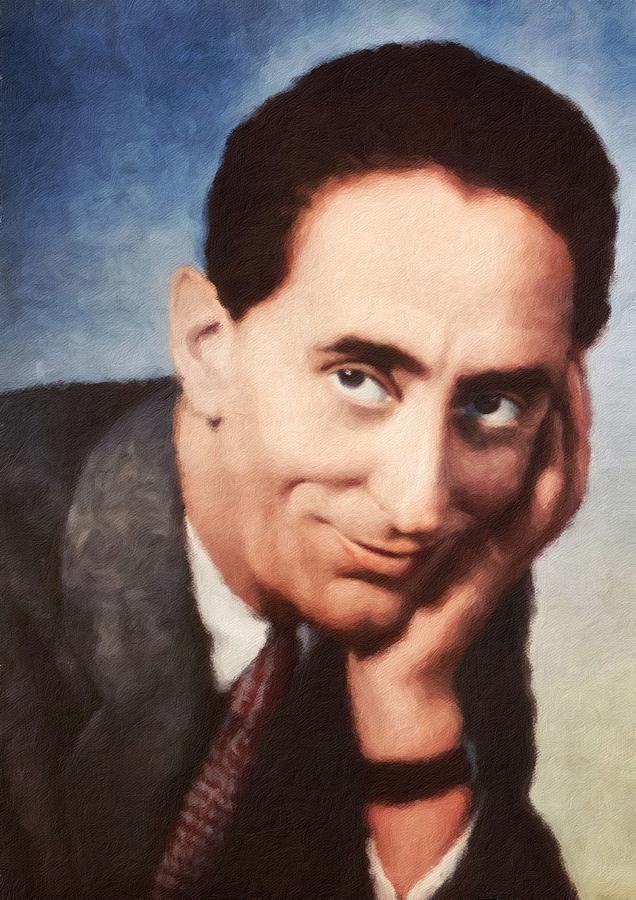 Jindrich Plachta, portrait of Czechoslovak actor by Vincent Monozlay