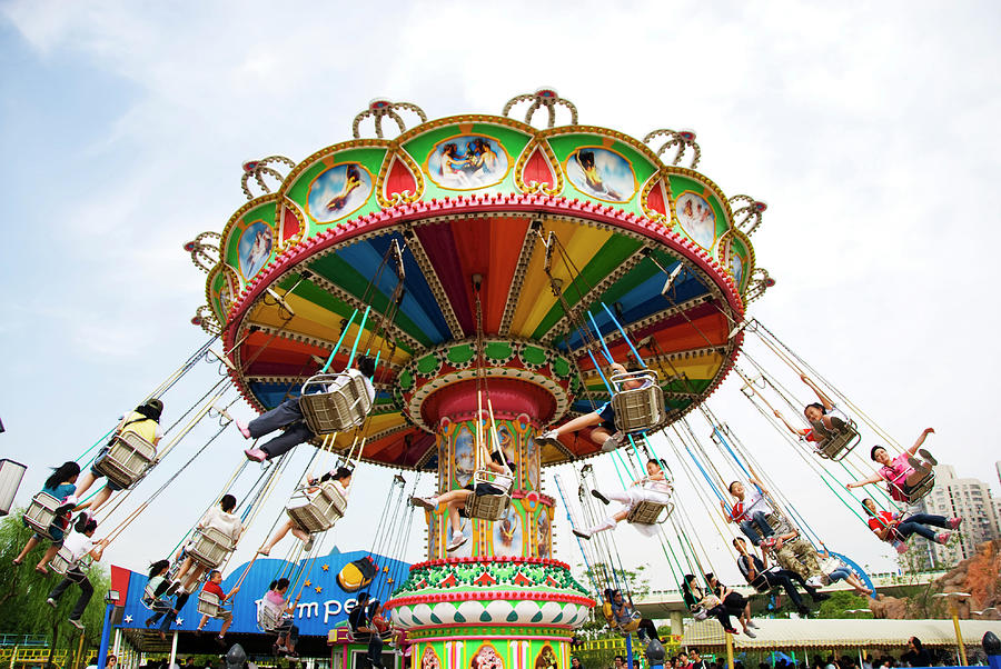 Jinjiang Amusement Park Chair Ride Photograph by Lonely Planet