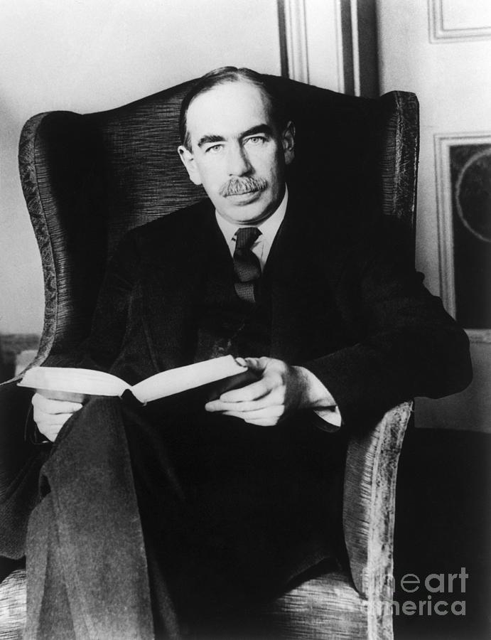 J.maynard Keynes Holding A Book Photograph by Bettmann
