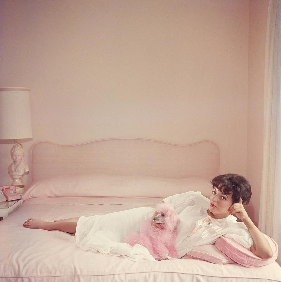 Joan Collins Relaxes Photograph by Slim Aarons