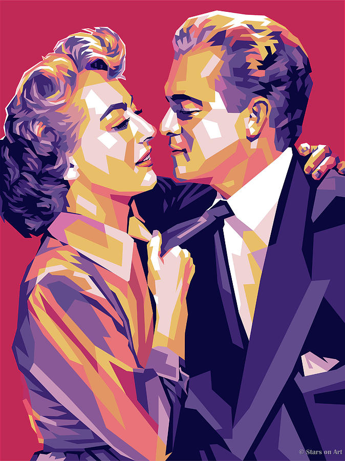 Joan Crawford And Van Heflin Painting