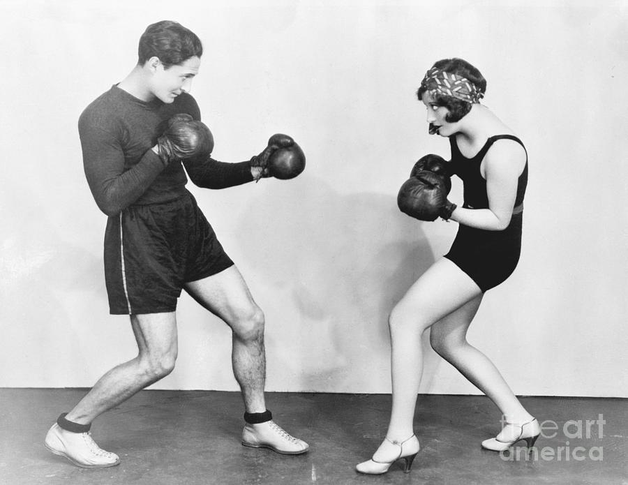 Joan Crawford With Her Sparring Partner Photograph by Bettmann