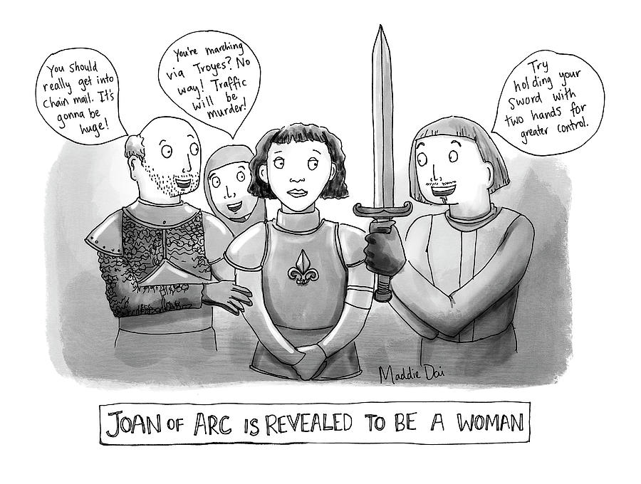 Joan Of Arc Revealed Drawing by Maddie Dai
