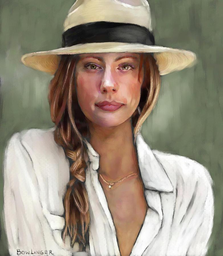 Joanna in Summer Hat by SCOTT BOWLINGER
