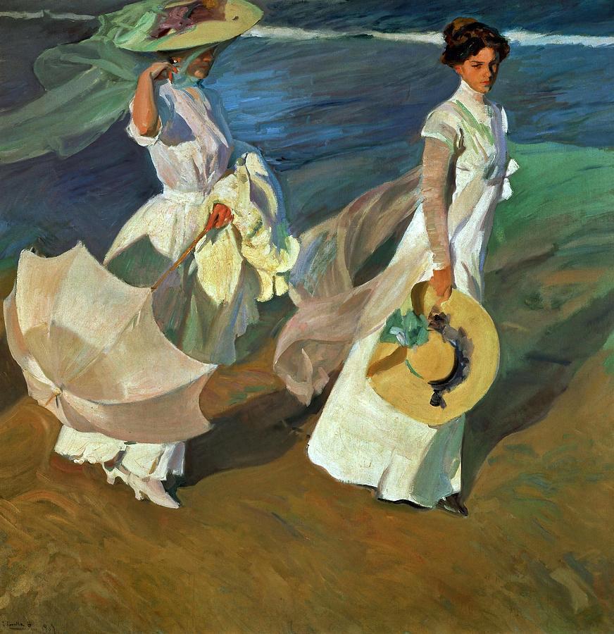 Joaquin Sorolla Walk On The Beach 1909 Oil On Canvas 205 X 200 Cm Painting By Joaquin Sorolla 1863 1923