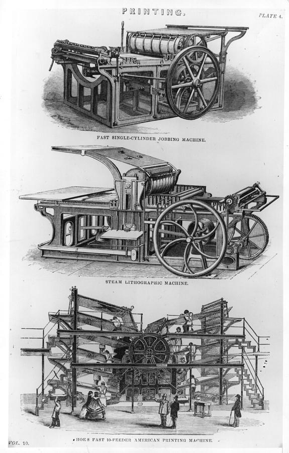 Jobbing Machine Digital Art by Hulton Archive