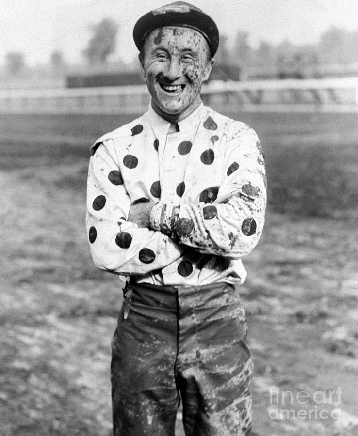 Jockey Jimmy Stout Is Covered With Mud Photograph by New York Daily News Archive